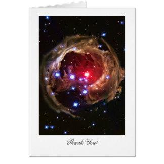 Cartão Obrigado - estrela Supergiant vermelha Monocerotis