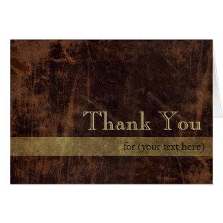 Cartão Obrigado executivo personalizado de Brown/ouro