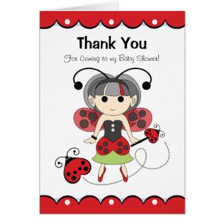 Cartão Obrigado feericamente do inseto você para vir a