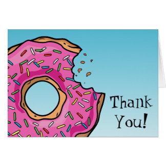 Cartão Obrigado feito sob encomenda da filhós cor-de-rosa