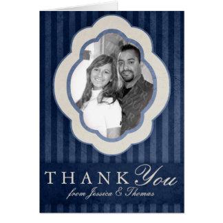 Cartão Obrigado feito sob encomenda da foto dos azuis