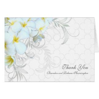 Cartão Obrigado feito sob encomenda do casamento do