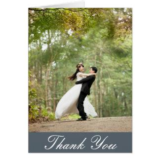 Cartão Obrigado feito sob encomenda vertical da foto do
