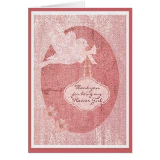 Cartão Obrigado festa de casamento do florista
