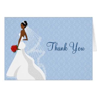 Cartão Obrigado Flirty do chá de panela da safira você