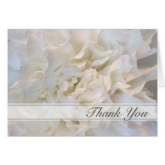 Cartão Obrigado floral branco você para sua simpatia