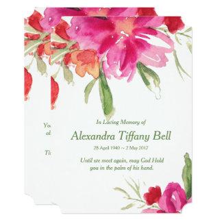 Cartão Obrigado floral da simpatia da aguarela você
