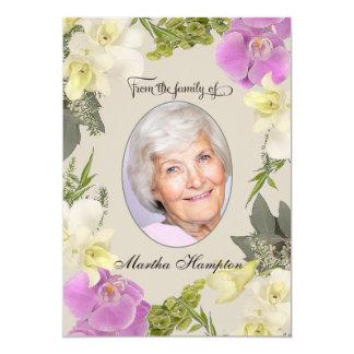 Cartão Obrigado floral da simpatia da foto você com