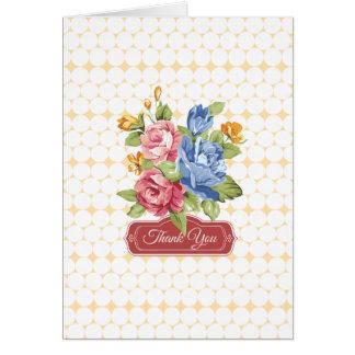 Cartão Obrigado floral & das pérolas você