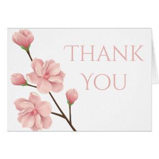 Cartão Obrigado floral você pica o partido da flor da