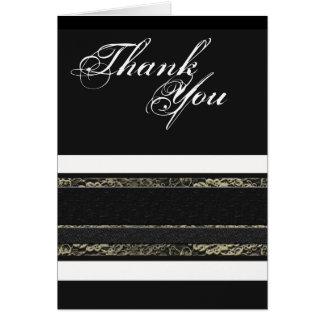 Cartão Obrigado formal branco preto