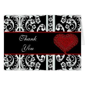 Cartão Obrigado formal você