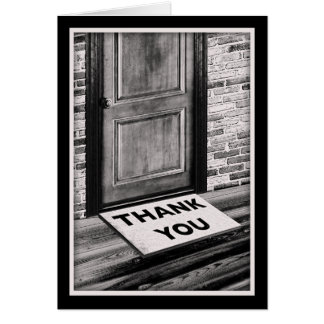 Cartão obrigado fotografia da esteira de porta