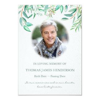 Cartão Obrigado fúnebre da simpatia do eucalipto da