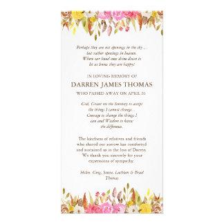 Cartão Obrigado fúnebre floral elegante da simpatia você