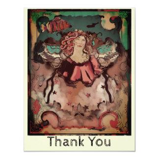 Cartão Obrigado Funky inspirado de Deco do anjo do mar