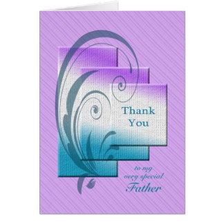 Cartão Obrigado genar, com retângulos elegantes