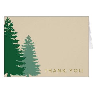 Cartão Obrigado genérico do ouro do pinheiro você
