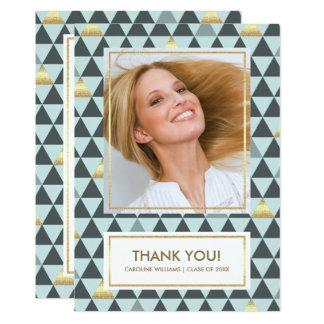 Cartão Obrigado geométrico da graduação do teste padrão