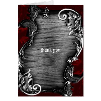 Cartão Obrigado gótico do vampiro de Proclimation você