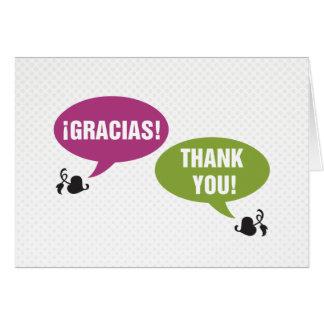 Cartão Obrigado - Gracias
