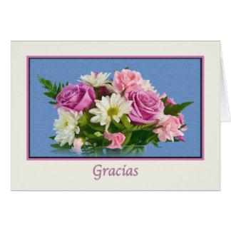 Cartão Obrigado, Gracias, espanhol