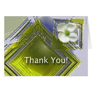 Cartão Obrigado grande design floral do trabalho