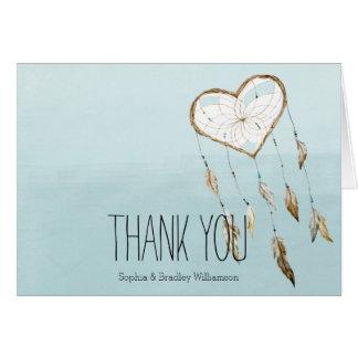 Cartão Obrigado ideal do coletor do coração você