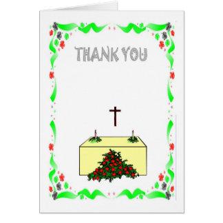 Cartão Obrigado - igreja