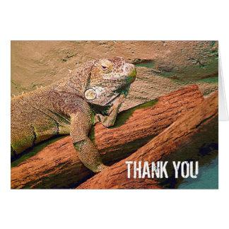 Cartão Obrigado - lagarto preguiçoso