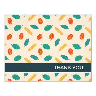 Cartão Obrigado liso do teste padrão lunático da folha