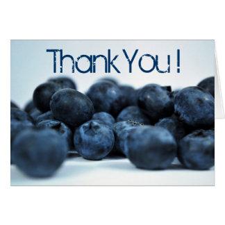 Cartão Obrigado maduro fresco dos mirtilos você