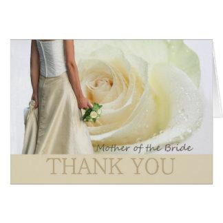 Cartão Obrigado mãe da noiva