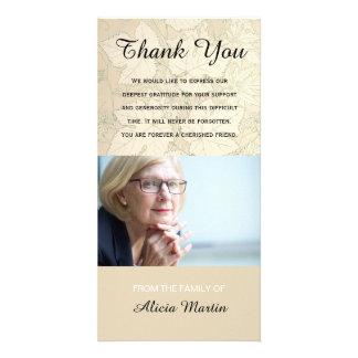 Cartão Obrigado memorável da simpatia da foto você cai as