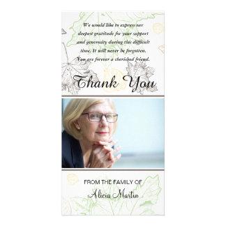 Cartão Obrigado memorável da simpatia da foto você folhas