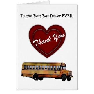 Cartão Obrigado! - Motorista de auto escolar/coração