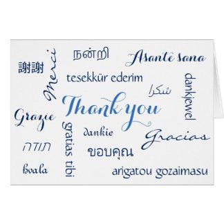 Cartão Obrigado multinacional você