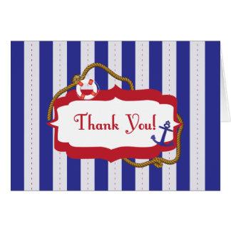 Cartão Obrigado náutico você