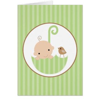 Cartão Obrigado neutro do chá de fraldas você