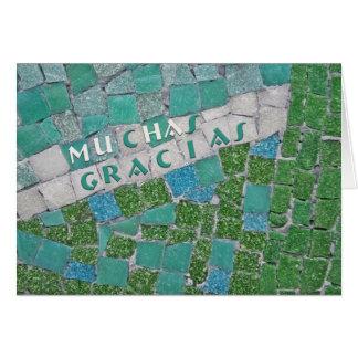 Cartão Obrigado no espanhol