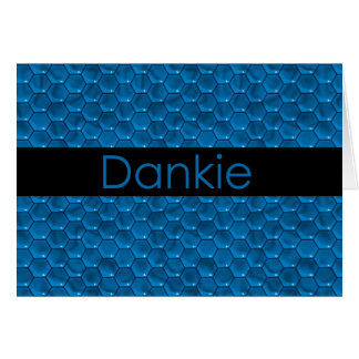 Cartão Obrigado no holandês sul-africano Dankie