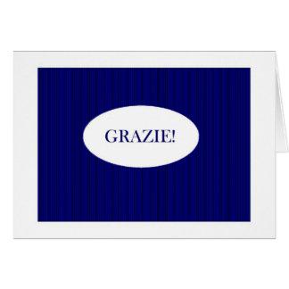 Cartão Obrigado no italiano