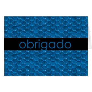 Cartão Obrigado no português Obrigado