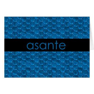 Cartão Obrigado no suaíli Asante
