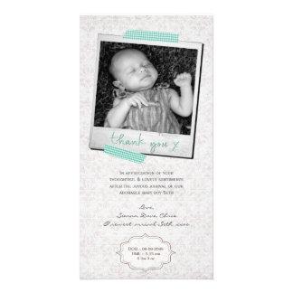 Cartão Obrigado notar a fita azul de Washi do bebé