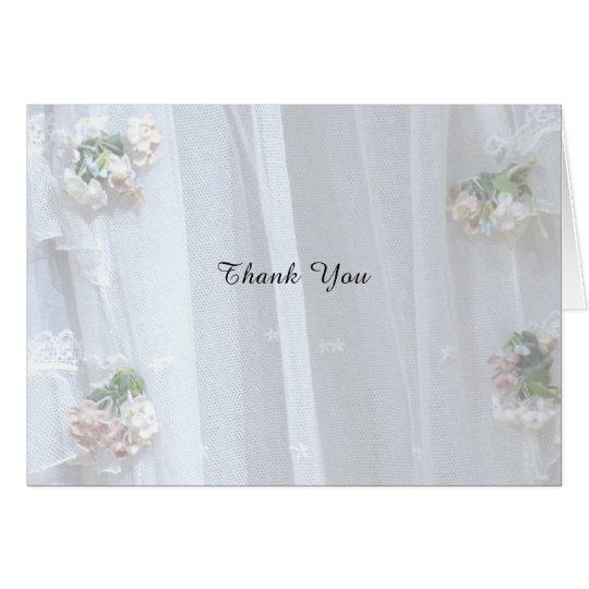 Cartão Obrigado notar o casamento/aniversário, laço do
