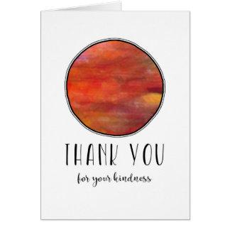 Cartão Obrigado o círculo calmo e colorido