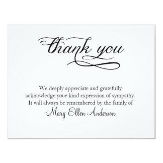 Cartão Obrigado obrigado fúnebre você behreavement do