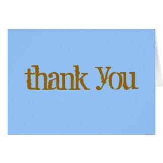 Cartão Obrigado ocasional você nota o azul/marrom