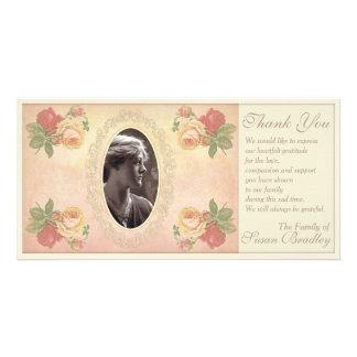 Cartão Obrigado oval da simpatia do quadro da foto do